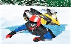 snowmobiler ice