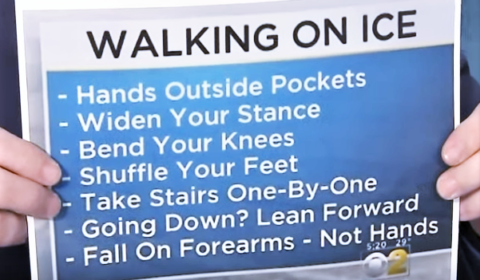 walking on ice tips