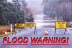 flood warning road sign