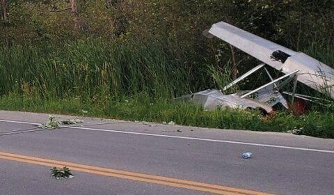 plane crash front