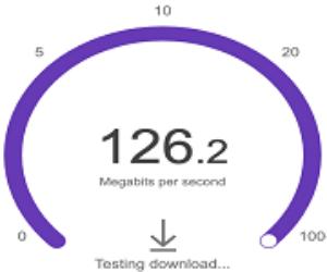 internet speed test front